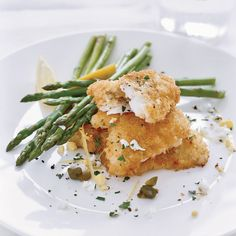 Chef Way This is Daniel Boulud's take on Wiener schnitzel, a breaded and fried veal cutlet. He lightens the dish by making it with thinly pounded monk...