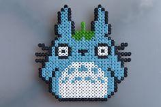 Totoro blue hama perler by Pierre Sauvage