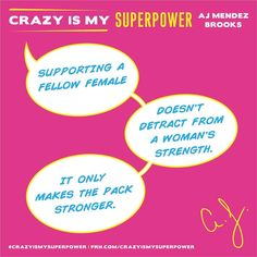 "Official AJ Mendez Brooks,Instagram: "" Saluting all the badass superwomen out there! We love this quote taken from #CrazyIsMySuperpower. Happy International Women's Day - Team AJ "" Original Text by: "" @officialajmendez "" , Instagram"