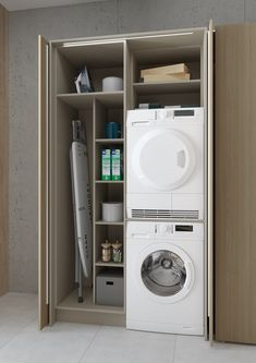 Modern Laundry Rooms, Laundry Room Layouts, Laundry Room Remodel, Laundry In Bathroom, Small Bathroom, Small Utility Room, Utility Room Storage, Utility Room Designs, Laundry Room Organization