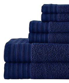 Love this Navy Quick Dry Towel Set by Colonial Home Textiles on #zulily! #zulilyfinds