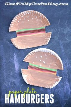 Paper Plate hamburgers! A fun summer arts and crafts project!