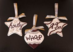 AGGIE ORNAMENTS  Set of Three by ShimmerShineGlimmer on Etsy, $25.00