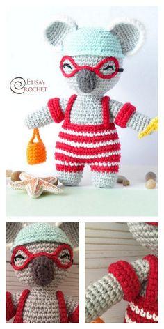 Educational and interesting ideas about amigurumi, crochet tutorials are here. Crochet Elephant Pattern Free, Crochet Teddy Bear Pattern, Afghan Crochet Patterns, Amigurumi Patterns, Amigurumi Doll, Doll Patterns Free, Free Pattern, Stuffed Animal Patterns, Hello Dear