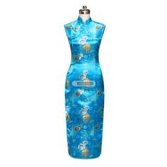 #idreammart Classy Black Satin Side Lapel Chrysanthemum Evening Gown Chinese Dress #Qipao