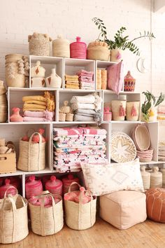 The Baba Souk online shop - Montreal, Canada Pink Bedroom Decor, Pink Home Decor, Pink Themes, Party In A Box, Black Decor, Hobbies And Crafts, Bohemian Decor, Store Design, Boutique