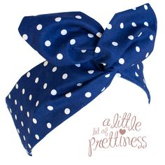 $11.99 Gorgeous 50′s Blue Polka Dot Vintage Pin-Up Headband. Measuring approximately 38cm long by 7cm wide. Special soft flexible wire to twist and mold the headband into shape – very comfortable! Made from quality 100% cotton fabric. $2.80 flat rate postage for as many items as you would like! www.alittlebitofprettiness.com.au
