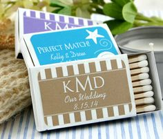 SET of 50 Personalized Matches Matchbox Wedding by EventDazzle