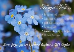 Forget-me-Not from Pres. Uchtdorf... fabulous!