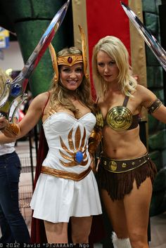 She-Ra and Teela cosplay. View more EPIC cosplay at http://pinterest.com/SuburbanFandom/cosplay/
