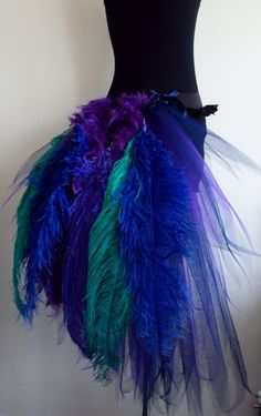 French Navy Blue Purple Peacock  Burlesque Tutu by thetutustoreuk, $75.00