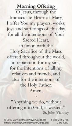 Morning Offering #Catholic #prayer