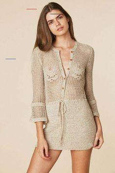 Crochet Spring Dresses, Crochet Dress Outfits, Sweater Dress Outfit, Crochet Clothes, Crochet Woman, Handmade Dresses, Little Girl Dresses, Birkin, Vintage Dresses