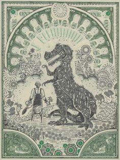 dollar collage