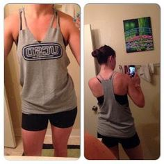 Livin' The Thrify Life: DIY no-sew workout tank - I saw it at....Walmart?