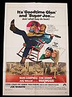 1970 B- MOVIE POSTER GLEN CAMPBELL  JOE NAMATH IN NORWOOD MOD GRAPHICS RETRO - http://awesomeauctions.net/movie-posters/1970-b-movie-poster-glen-campbell-joe-namath-in-norwood-mod-graphics-retro/