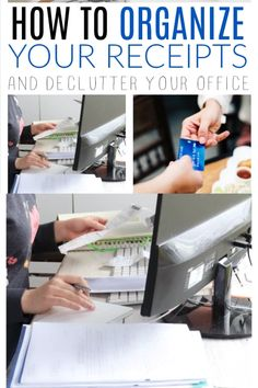 Tips for how to organize and store receipts in file folders and digitally; how to log receipts for tax time; how to keep receipts from fading and a simple at-home file management system. Receipt Organization, Office Organization At Work, Organizing Paperwork, Clutter Organization, Household Organization, Teacher Organization, Paper Organization, Organize Receipts, Organize Files