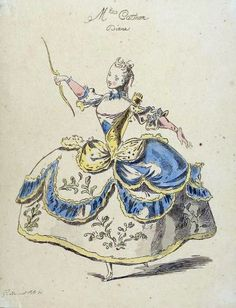 Costumes de l'Opera - Diane - in a Cinderella ball gown.