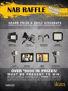 Are you going to be in Las Vegas for the NAB Show? Would you like to win free gear? Be sure to come by our booth C6537. We are giving something away every day during the show! You must be present to win.