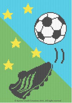 Crochet Patterns - SOCCER color graph afghan pattern FOR SALE • $6.00 • See Photos! Money Back Guarantee. SOCCER Afghan Pattern Original graph pattern artwork © Karens*Cradle*Creations, 2016. All rights reserved. Up for auction is a GRAPH PATTERN that I created. This graph pattern will make a beautiful 262419086162