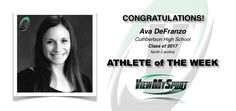 Congratulations to this week's ViewMySport ATHLETE of THE WEEK - AVA DEFRANZO - Cheerleading - Class of 2017 - Cuthbertson High School (NC)... GREAT JOB AVA!  http://www.viewmysport.com/r-1147-ava-defranzo-cheerleading  ViewMySport.com - Your #1 College Sports Recruiting &  Scholarship Networking Resource!