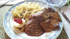 Opas Rindsschnitzel Dory, Sausage, Steak, Food And Drink, Favorite Recipes, Beef, Cooking, Snacks, Winter