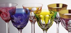 The Moser glass. Those candy colored crystal cups!!!