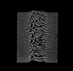 "Curious about Peter Saville's design for Joy Division's Unknown Pleasures, it appears to be a chart of radio pulses from outer space (""pulsars stacked every 1.3 seconds""). The image was used virtually unchanged from a scientific journal."