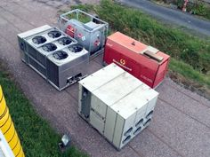 Autarke Hallenklimatisierung inklusive Stromgenerator