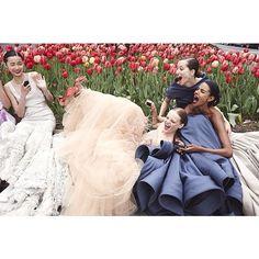 [Hanne Gaby Odiele, Xiao Wen Ju + More Prep for Met Gala in Vogue Instagram Shoot]