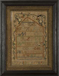 WROUGHT BY LYDIA BAKER, BORN JANY. 1ST, 1777, OF DORCHESTER, MASSACHUSETTS, CIRCA 1790