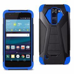 Reiko LG ESCAPE 3 Silicon Case+Protector Cover Navy Black New Type Kickstand