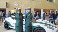 Police women in Dubai where exotic cars like Bugatti, Aston Martin and Lamborghini are the norm.
