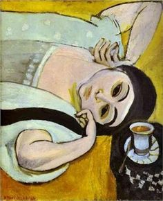 Laurette's Head with a Coffee Cup, 1917, by Henri Matisse (1869 -1954)