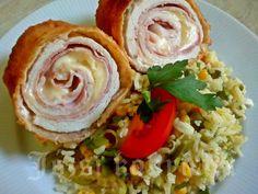 Cordon Bleu, Chili, Cake Recipes, Cabbage, Bacon, Pork, Menu, Vegetables, Drink
