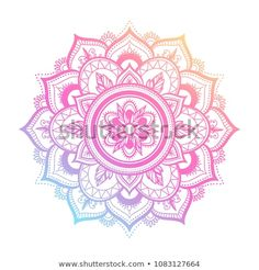 round gradient mandala on white isolated background. vector boho mandala in green and pink colors. mandala with floral patterns. What Is A Mandala, Simple Mandala Tattoo, Rundes Tattoo, Rosas Vector, Boho Tattoos, Circle Template, Black Tattoo Art, Shape Tattoo, Cute Small Tattoos