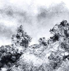 contrée, détail.  digital painting, Katia Wladimiroff