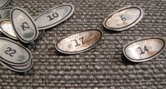 Recycled Soda Can, Vintage Number Labels