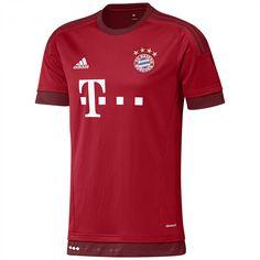 adidas FC Bayern München Home Trikot 2015/16 S14294 S FCB True Red/Craft Red | S | cortexpower.de