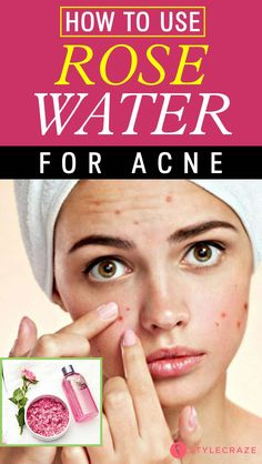 Rose water makes an excellent toner, but it can also be very effective in treating acne. Read on to know how to use rose water for acne treatment. Natural Hair Mask, Natural Skin, Natural Beauty, How To Get Rid Of Acne, How To Find Out, Rose Water Face, Uses Of Rose Water, Rose Water For Skin, Acne Scar Removal