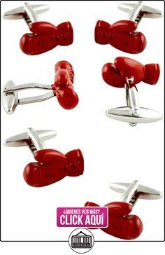 MasGemelos - Gemelos Guantes Boxeo Rojos Cufflinks  ✿ Joyas para niños - Regalos ✿ ▬► Ver oferta: http://comprar.io/goto/B01FPXL0GE