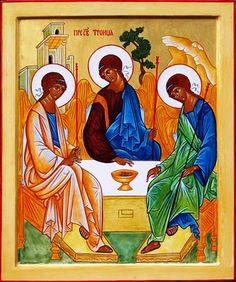 """Saw the """"Holy Trinity"""" original by Andrei Rublev @1423 in Moscow, 1999, Tetryakov Gallery"""