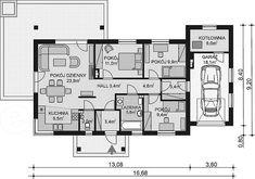 Rzut parteru projektu APS 259 Floor Plans, Diagram, Floor Plan Drawing, House Floor Plans