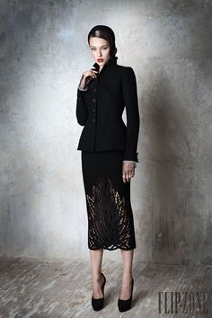 Yulia Yanina Fall-winter 2013-2014 - Couture (love the skirt detail, this is a great look)