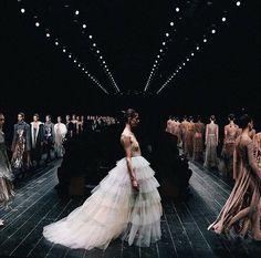 FOR THE BRIDE FROM THE RUNWAY || Tulle skirt loveliness || NOVELA BRIDE...where the modern romantics play & plan the most stylish weddings... www.novelabride.com @novelabride