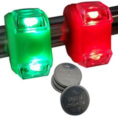 Bright Eyes Green & Red Portable Marine LED Boating Lights - Boat Bow or Stern Safety Lights - Water-Resistant Boat Navigation, Navigation Lights, Led Boat Lights, Boating Holidays, Waterproof Led Lights, Boat Safety, Boat Accessories, Green Led, Pontoon Boat
