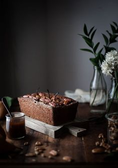Gingerbread Pecan Pear Cake Maple Caramel - The Kitchen McCabe