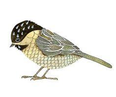 8x10 Bird Print, Limited Edition - Print CHICKADEE Watercolor painting Art Print by Lorisworld