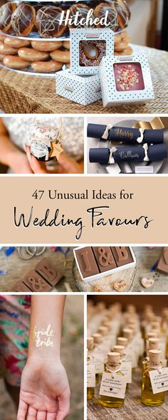 Make a lasting impression and surprise your guests with unique wedding favours that are a bit quirky - we've got 50 wedding favour ideas for you to browse. Unusual Wedding Favours, Summer Wedding Favors, Indian Wedding Favors, Wedding Favor Table, Homemade Wedding Favors, Edible Wedding Favors, Candle Wedding Favors, Wedding Gifts For Guests, Quirky Wedding