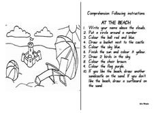 This is a five minute activity that the children love. It will improve listening skills and is an interesting exercise in receptive language. ...BRILLIANT